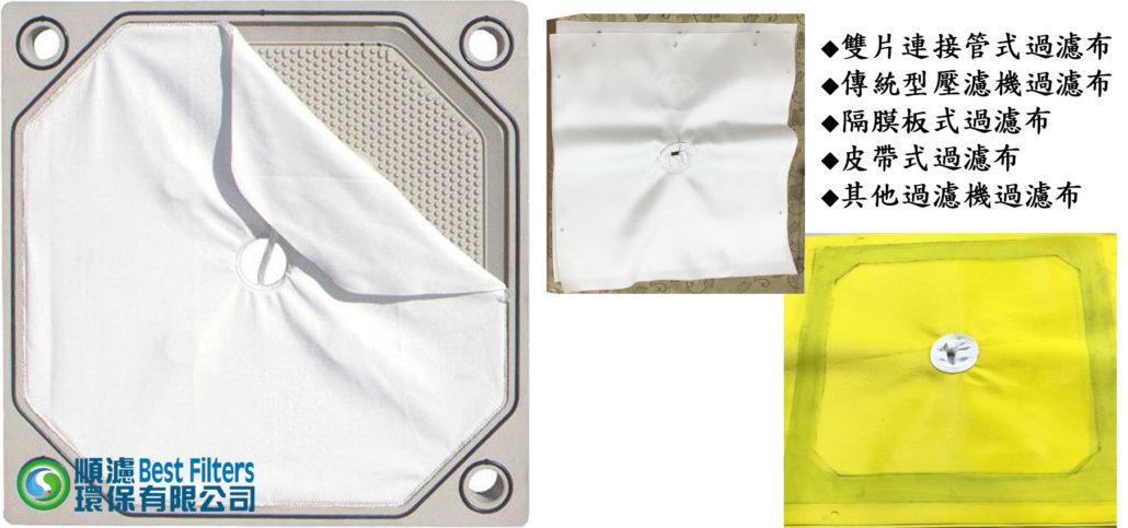 壓濾機(板壓機 壓濾脫水機 ) 過濾布